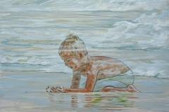 Blue Mind, acrylic on wood, 11 x 14 in, 28 x 36 cm, 2020, $350