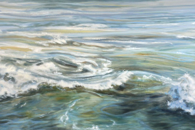 The Power of Water, acrylic on canvas, 48 x 84 in, 122 x 213 cm, 2020, $6000