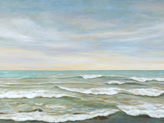 Fresh Breeze, acrylic on canvas, 30 x 48 in, 76 x 122 cm, 2021, SOLD