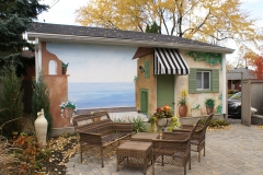Tuscan Villa (w chairs) - Acrylic on marine plywood panels, 8 x 22 ft, 2 x 7 m, 2008