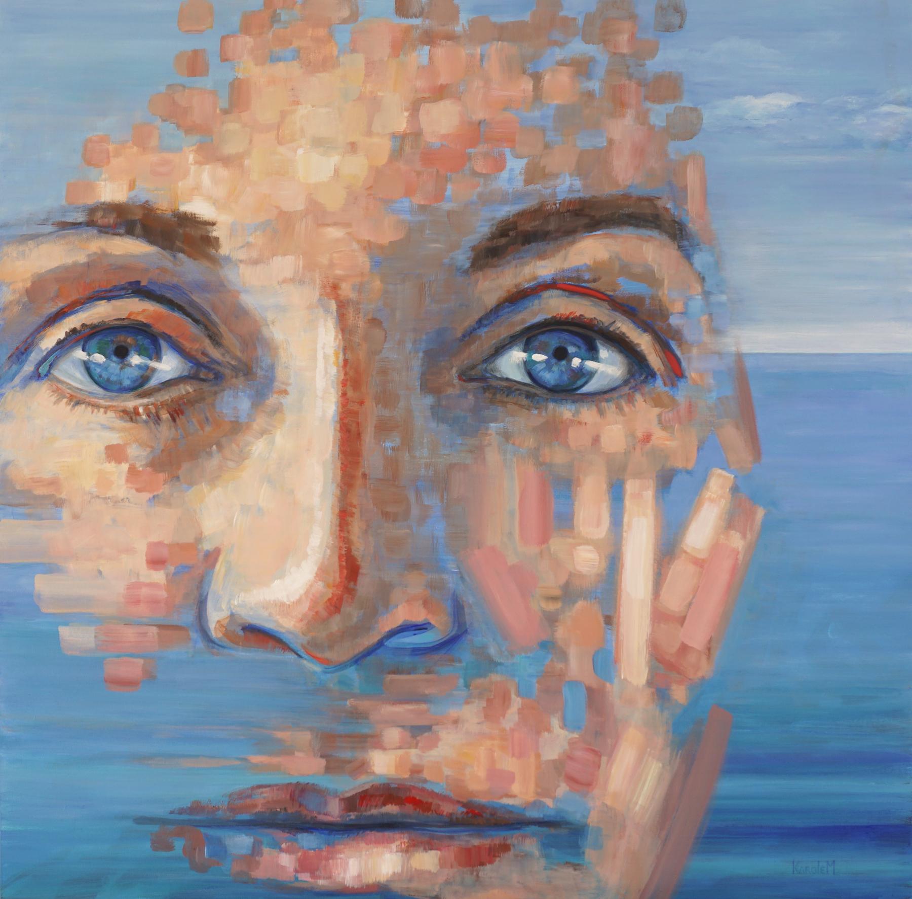 "In Osmosis, acrylic on wood, 48 x 48"", 122 x 122 cm, 2018, $3500"