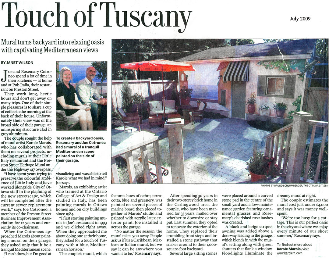 Touch of Tuscany News Article